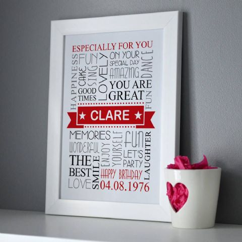 Personalised Birthday Framed Print